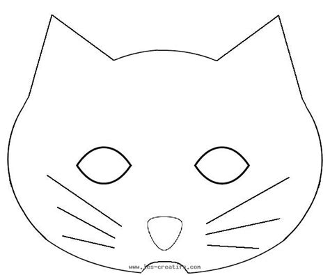 cat mask template cat mask to print out