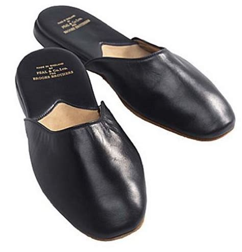 mens bedroom slippers leather men s leather slippers