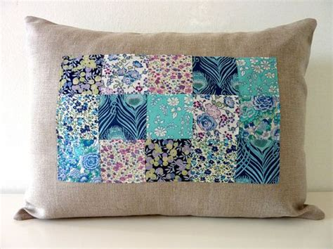Blueberries Patchwork - blueberry liberty of patchwork pillow on