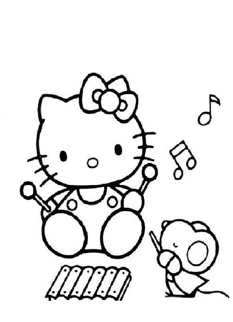 dibujos para pintar hello kitty free roli poli oli coloring pages
