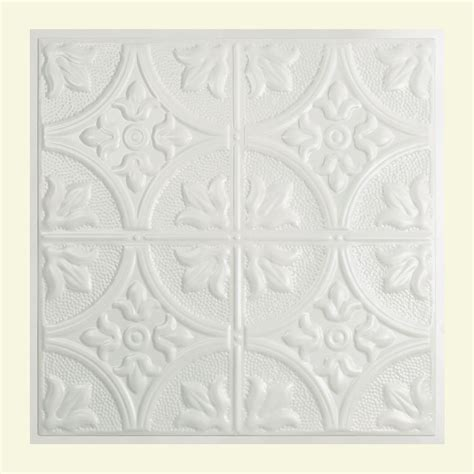 gratifying suspended ceiling tiles great great lakes tin jamestown 2 ft x 2 ft lay in tin ceiling tile in matte white y51 01 the home
