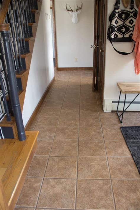faux painting floors faux cement tile painted floors bright green door