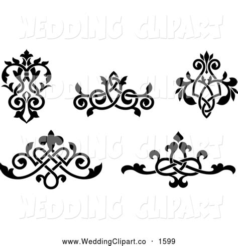 wedding design elements vector free victorian wedding clipart 66