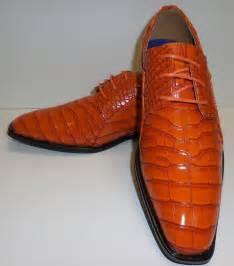 orange dress shoes mens roberto chillini 6563 mens ultra gator embossed orange