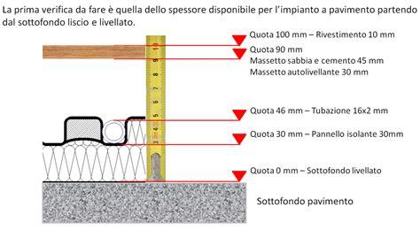 stratigrafia riscaldamento a pavimento 11 ho a disposizione 10 cm di spessore disponibile per il