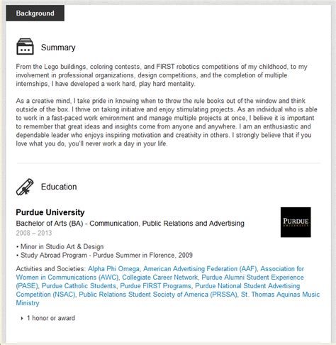 Education Section by Linkedin Boot C Challenge 3 Resemble A Resume