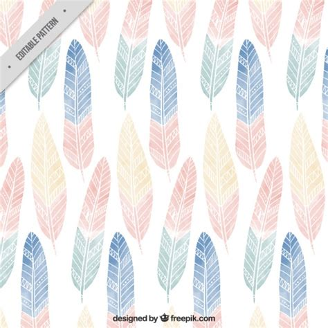 cute hippie pattern cute boho pattern with colored feathers vector free download