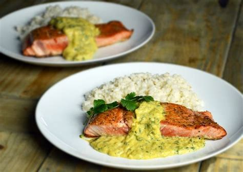 simple dinner party recipes that impress salmon with mango sauce and coconut rice easy dinner that