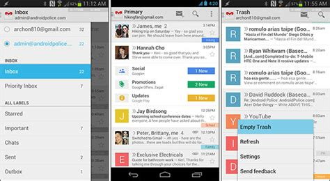 gmail apk android arriva il nuovo gmail 4 5 per android apk