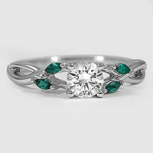 5 45 Ct Memo Emerald engagement ring with emeralds willow brilliant earth