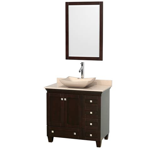 Espresso Bathroom Vanity Wyndham Collection Wcv800036sesivgs2m24 Acclaim 36 Inch Single Bathroom Vanity In Espresso