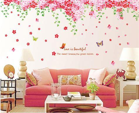 fiori di ciliegio e farfalle ufengke 174 romantiche farfalle fiore di ciliegio adesivi
