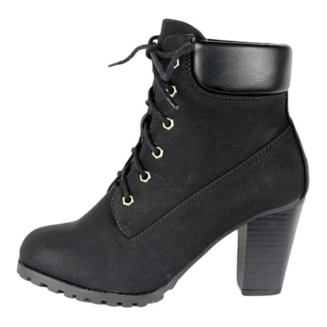 high heel lace up ankle boots heels me