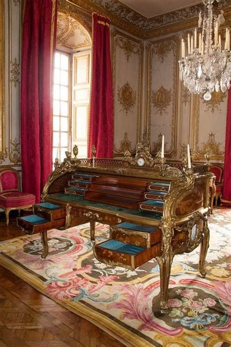 the desk of louis xv at the palace of versailles