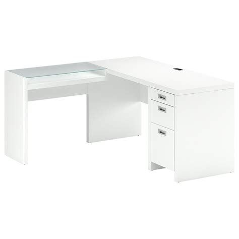 l shaped desk white