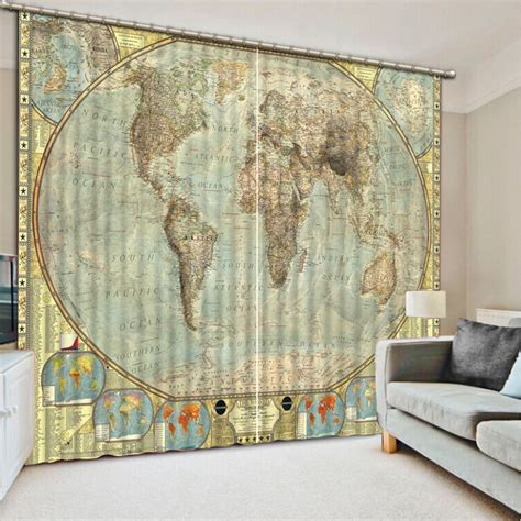 world map window curtains world map curtains roundtripticket me