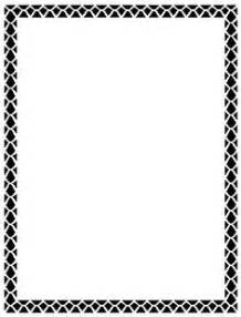borders for word black and white clipart best