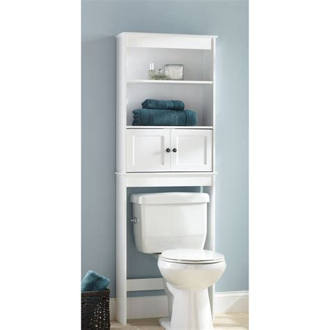 Bathroom Shelves White Space Saver Bath Shelves Walmart