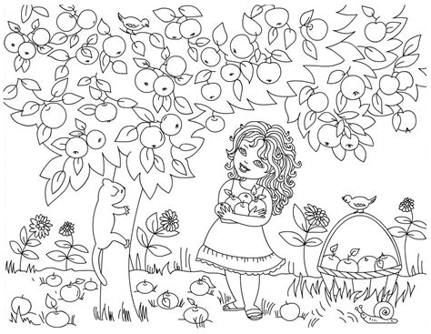 coloring page tree with fruit free coloring pages of fruit tree