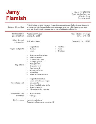 Phlebotomy Resume Sle Template Business Phlebotomy Resume Templates