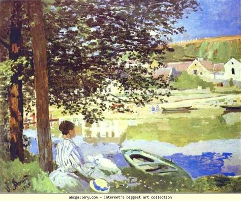 on the banks of the seine claude monet the river bennecourt