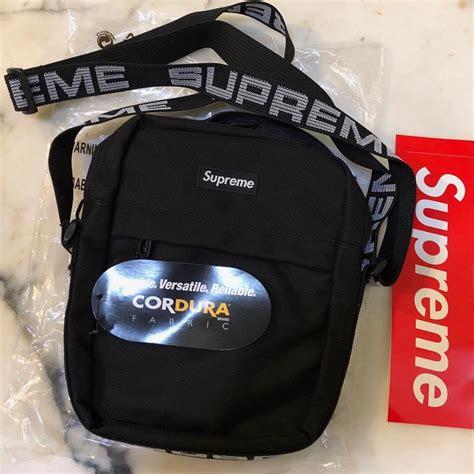 Supreme Cordura Shoulder Bag Black supreme shoulder ss18 1050 d cordura ripstop black cross bag tradesy