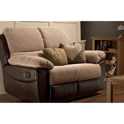 2 Seater Recliner Sofa Fabric Microfiber Sleeper Sofa 2 Seat Recliner Sofa
