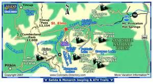 st elmo jeeping atv trails map colorado vacation
