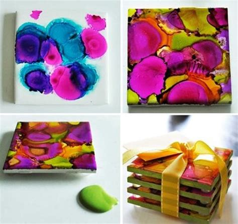 painting on ceramic tile craft simple ceramic tile painting ideas adding artworks to