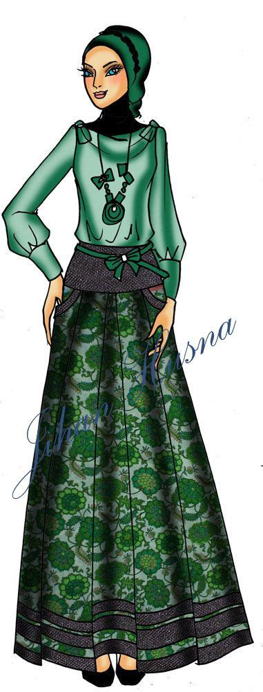 sketsa desain dress batik 52 best gamis batik images on pinterest hijabs dress