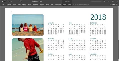 make a calendar in word or excel how to create 2018 calendar using office word or excel