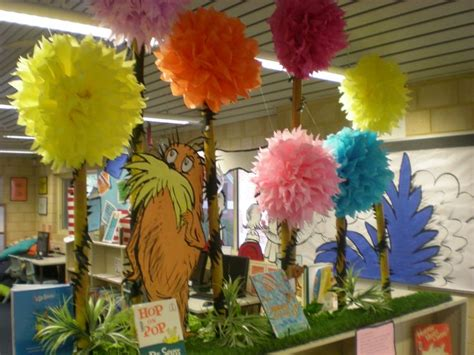 How To Make Lorax Trees Out Of Tissue Paper - dr seuss featuring the lorax truffula trees are tissue