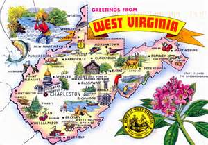 West Virginia State Map by World Come To My Home April 2014