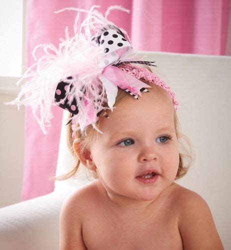 baby pink pettiskirt and feather headband hair bows baby mud pie black pink ostrich headband mud pie hair