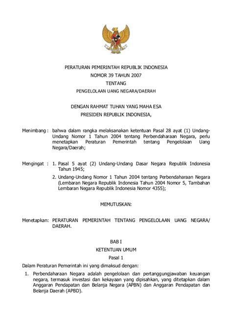 Peraturan Presiden R I No 4 Tahun 2015 Tentang Pengadaan Barang Jasa peraturan pemerintah republik indonesia nomor 39 tahun 2007 the knownledge