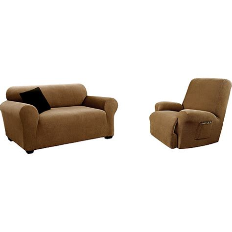 Sofa Recliner Covers Canopy Corduroy Loveseat And Recliner Slipcovers Bundle Walmart