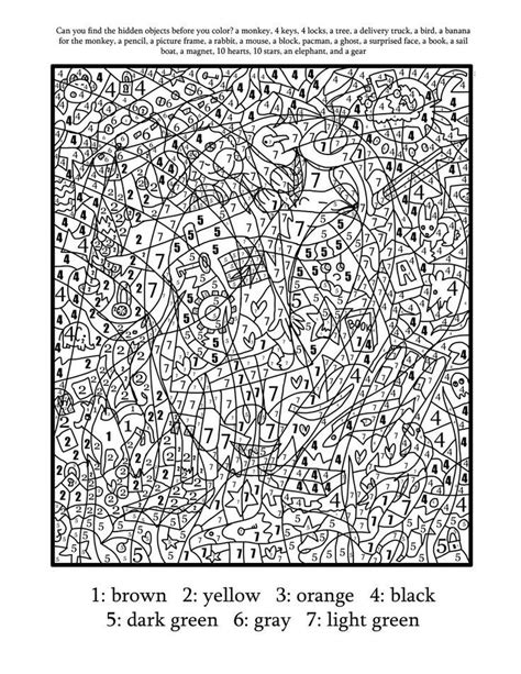 free coloring pages of color by number adult adult color by numbers best coloring pages for kids