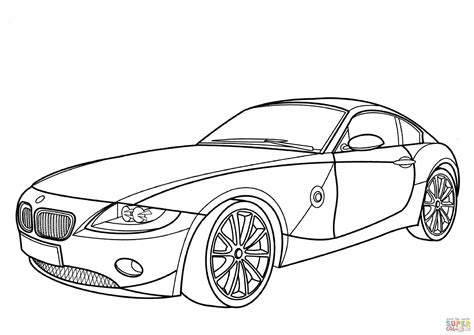 coloring pages of bmw cars bmw z4 coupe coloring page free printable coloring pages