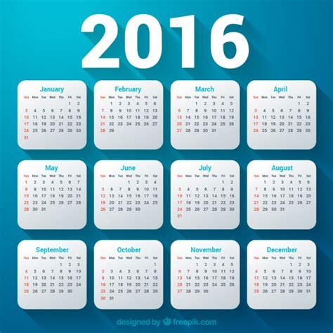 Calendar J K 2016 10 Bộ Lịch 2016 Vector Tuyệt đẹp Free Obin