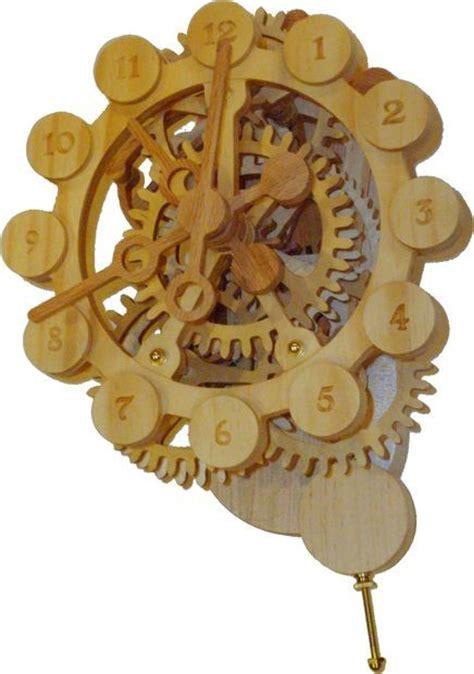 wood gear clock  stepper motor drive