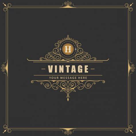 elegant logo design photoshop elegant vintage frame vector free download