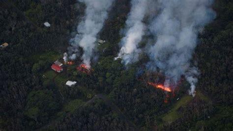kilauea hawaii volcano destroys dozens  homes news