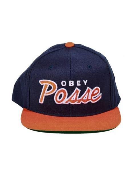 Obey Orange obey clothing obey posse snapback navy orange