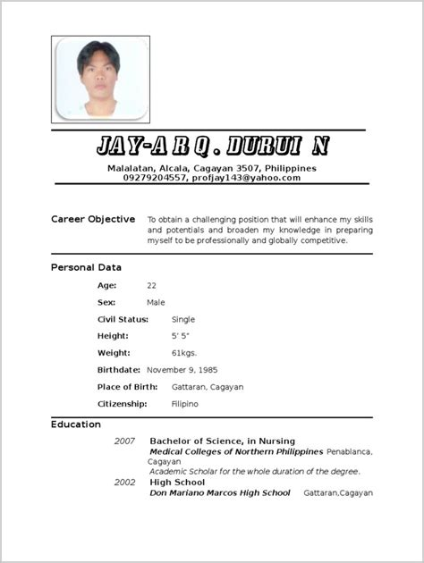 sle resume for nurses in the philippines resume for newly registered in philippines resume