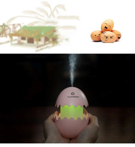 usb mini egg humidifier with colorful light egg tumbler aroma diffuser for car home