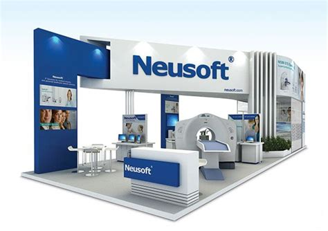 booth design indonesia neusoft at arabhealth on behance exhibition booth