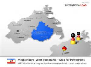 west a m cus map powerpoint map mecklenburg vorpommern germany
