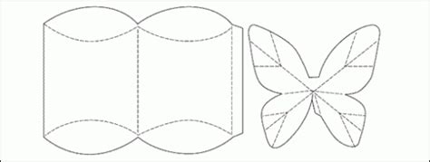 3 D Butterfly Pillow Box Templates Free Card Making Butterfly Box Template