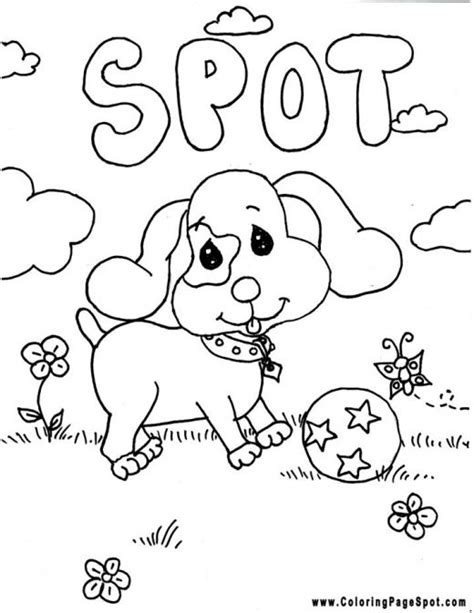 free coloring pages of spot the dog