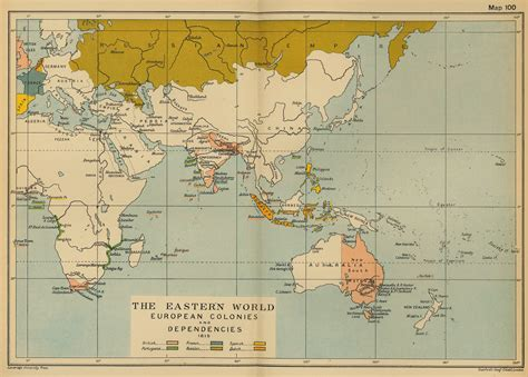 eastern world map map of the eastern world 1815 colonies and dependencies